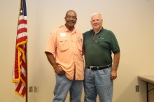 Kerr Center president Jim Horne with Mike Oakley of Oklahoma Farmers & Ranchers Association (OFRA), a partner in the OKBFRP.
